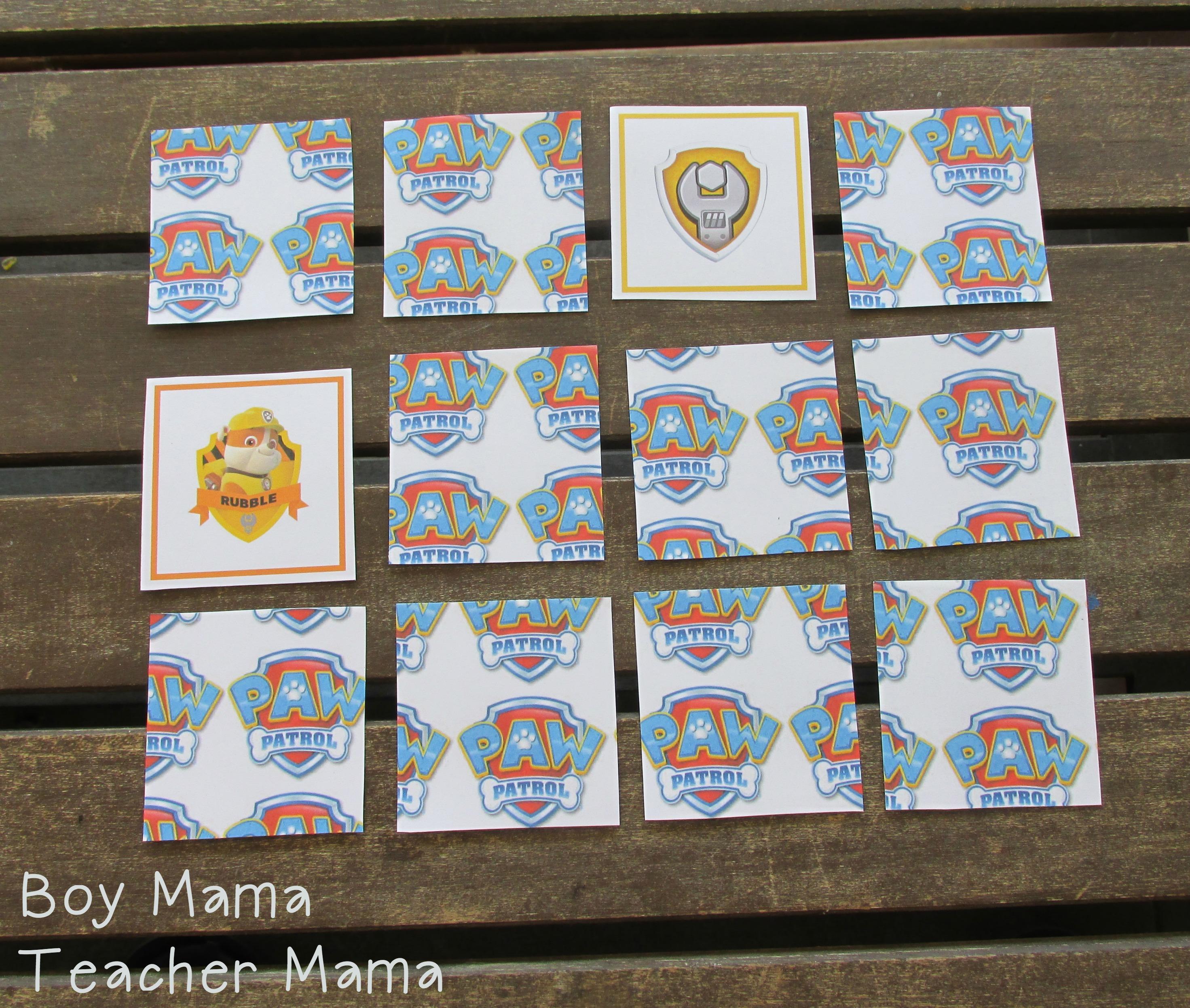 Boy Mama Free Paw Patrol Printable Cards