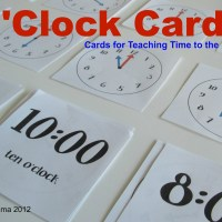 Teacher Mama: O'Clock Cards- Games for Teaching Time to the Hour