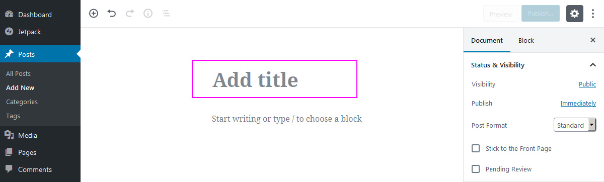 Gutenberg the new WP block editor