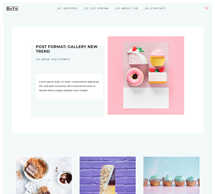 Start food blog with WP theme