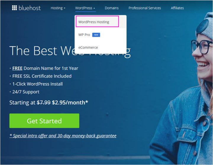 Starting a blog – Bluehost WordPress hosting provider