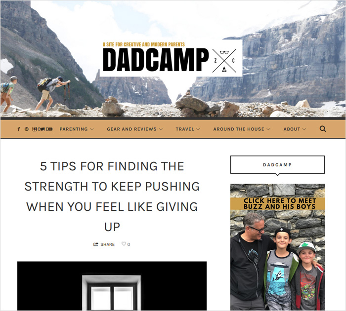 DadCAMP- dad blog
