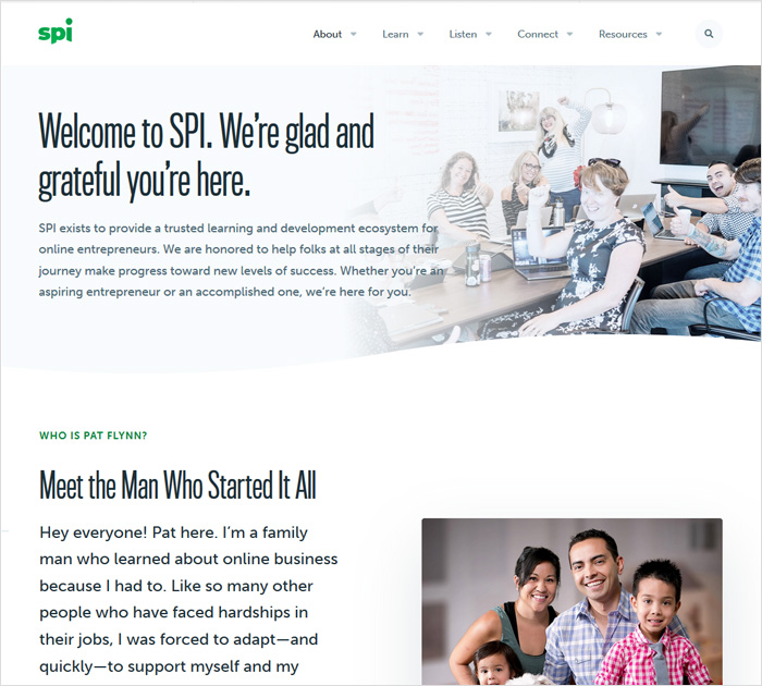 Spi - about me page site example