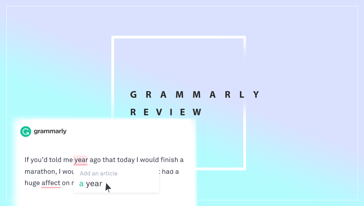 Grammarly review page screen shot intro