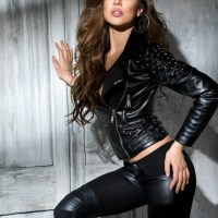 Sexy Curvaceous Ladies II Clad In Real Leather