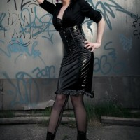 Latex Fashion And Glamour Ladies Captured Out And About