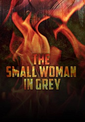 small woman in gray cover