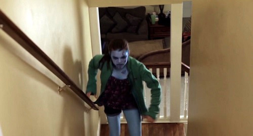 e19 virus zombie on stairs