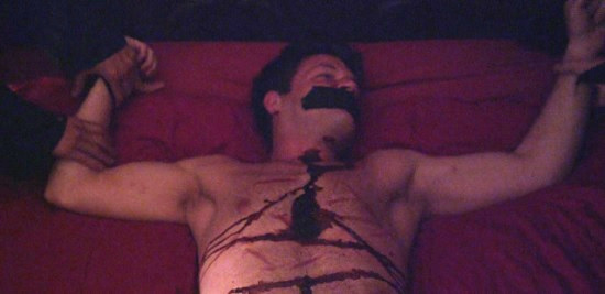 devils night pinned to bed