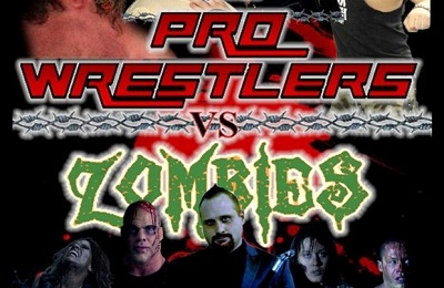 pro wrestlers vs zombies banner