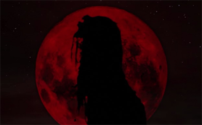 blood moon rising wolf