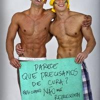 Musos anti-Feliciano posam para as lentes do fotógrafo Ronaldo Gutierrez