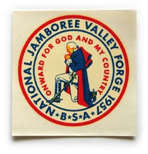 1957 National Jamboree Decal