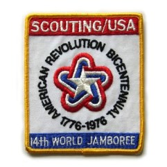 1975-76 World Jamboree USA Back Patch