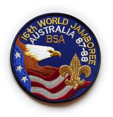 1987-88 World Jamboree USA Back Patch