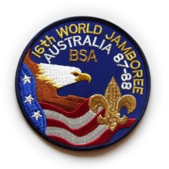 1987-88 World Jamboree USA Back Patch