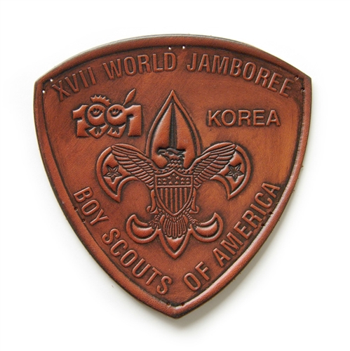 1991 World Jamboree USA Leather Patch | Scout Patch Store