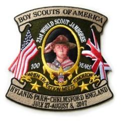 2007 World Jamboree USA Contingent Jacket, Back Patch