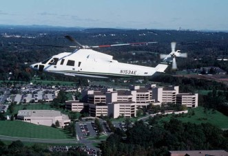 S-76C+ over office complex