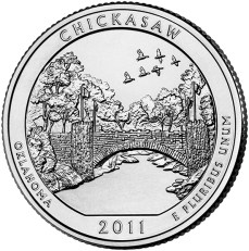 America the Beautiful quarters - Chickasaw National Recreation Area