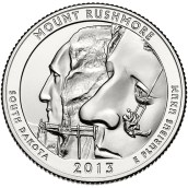 America the Beautiful quarters - Mount Rushmore National Memorial