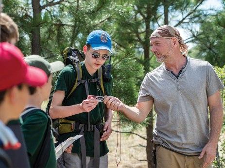 Survivorman Les Stroud shares some orienteering tips with Ethan Rasmussen.