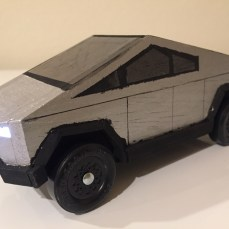 Kaiden's Cybertruck with working lights
