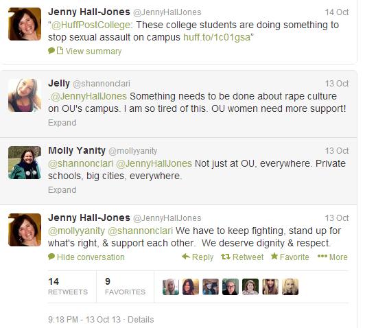 OU Dean of Students Jenny Hall Jones Twitter 2