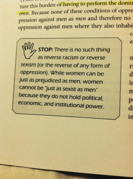 Women can't be sexist