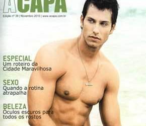Revista A Capa com o Ex-bbb Eliéser