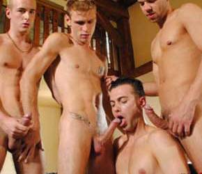 Four Guys Big Cocks - GangBang!