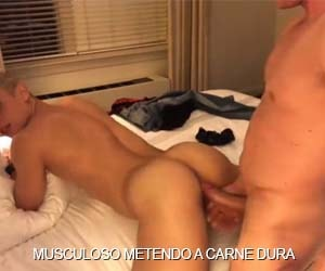 Malhando glúteo na pica do fortão - Bareback Gay Muscle