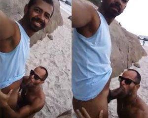 Conheceu na praia e botou pra chupar