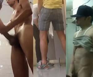 FLAGRAS tesão no banheirão