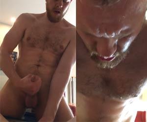 Ruivo dotadão pingando suor ao foder cu de macho - Homens Suados