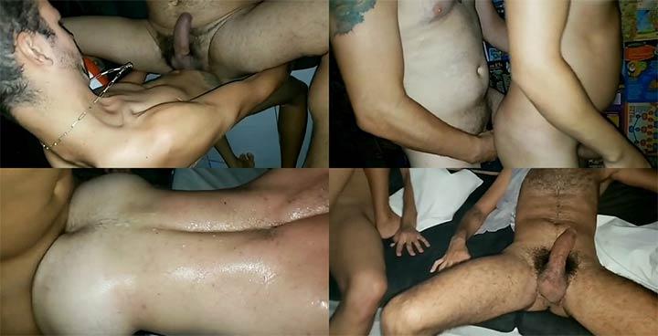 Homens paus peludos Orgia gay festa de aniversário
