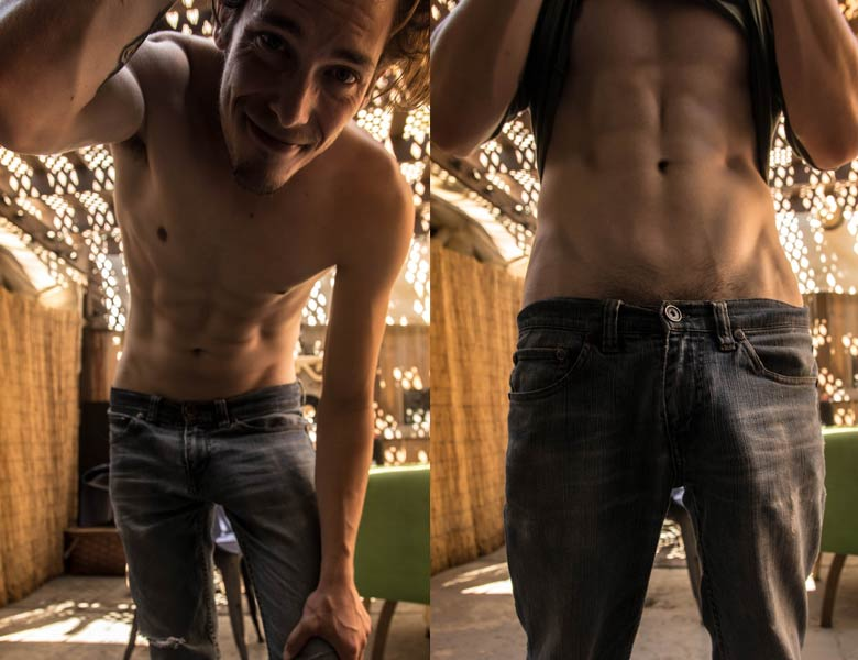 steven pica marcando calça jeans