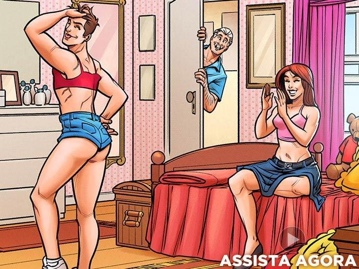 HQ gay seduziu pai da amiga