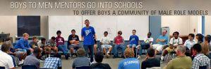 circle of boys and mentors