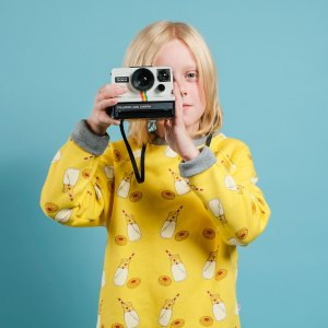 boy wonder milk sweatshirt & camera