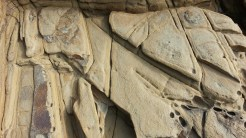The sandstone erodes in interesting patterns.