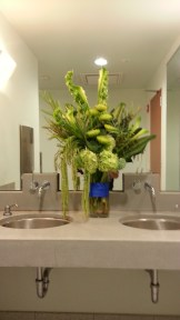 The arrangement for the ladies' room.