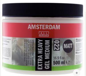 Amsterdam Médium Gel Extra Lourd Mat 022 Pot 500 ml