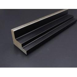 Cadre Caisse américaine noire et filet argent escalier 45 x 35 mm