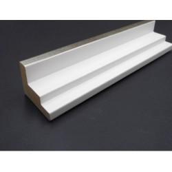 Cadre Caisse américaine blanche et filet argent escalier 45 x 35 mm