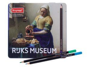 Rijks Museum Boîte métal de 24 crayons de couleur Bruynzeel