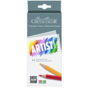 """Crétacolor Set de 12 crayons de couleur """"Artist Studio Line"""""""