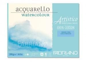 Fabriano Artistico traditional white. Bloc 20 feuilles 300 grs grain fin