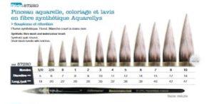 Pinceau Léonard Aquarellis 872RO