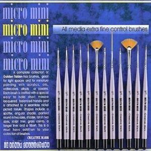 Micromini Pack de 12 pinceaux ergonomiques pour travaux minutieux